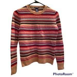 RARE 90's VINTAGE RAINBOW CRAYONS STRIPED HIPSTER VINTAGE 90's GAP SWEATER